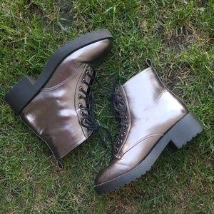 H & M Metallic Gray Boots